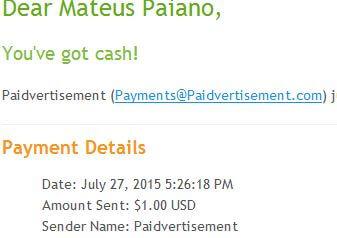 1º Pagamento Paidvertisement $1 Imediato