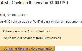 1º Pagamento ClixMansion 31 Agosto 2015