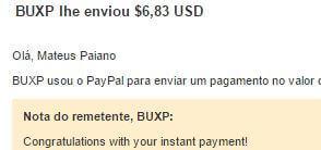 6º Pagamento BuxP $7 24 Agosto 2015