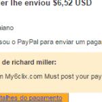 6º Pagamento My6Clix $6 11 Agosto 2015