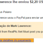 2º Pagamento Real PTC $2,20 29 Setembro