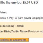 2º Pagamento Rising Traffic $5 04 Setembro 2015