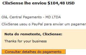 32º Pagamento ClixSense $104 03 Setembro 2015