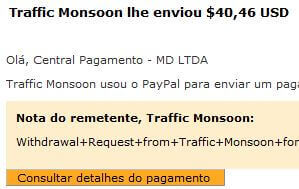 47º Pagamento Traffic Monsoon $40 01 Setembro 2015