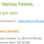 34º Pagamento Paidverts $20,3 16 outubro