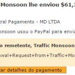 53º Pagamento Traffic Monsoon $61 09 outubro
