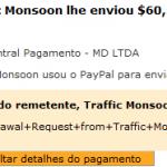 56º Pagamento Traffic Monsoon $60,27 27 Outubro