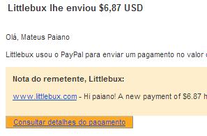 5º Pagamento LittleBux $6,87 19 Novembro