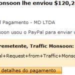 66º Pagamento Traffic Monsoon $120 26 Dezembro