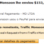 67º Pagamento Traffic Monsoon $153 27 Dezembro