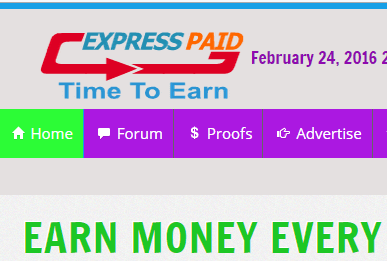 Express paid site PTC pagando a 1 ano