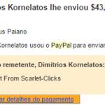 27º Pagamento Scarlet Clicks $43 04 Abril