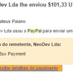35º Pagamento do Neobux $101,33 27 Abril