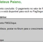 13º Pagamento FMGClique R$35 10 maio