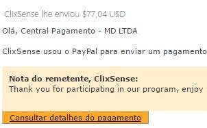 53º Pagamento ClixSense $77 12 Setembro 2016