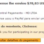 54º Pagamento ClixSense $78 29 Setembro