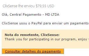 Pagamento ClixSense