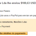 60º Pagamento Neobux $100 27 Janeiro 2017