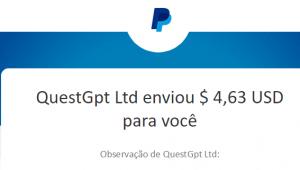 1º Pagamento QuestGpt $4,63 24 Fevereiro