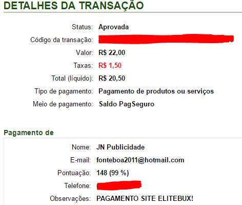 14º Pagamento EliteBux R$22 19 Abril 2017