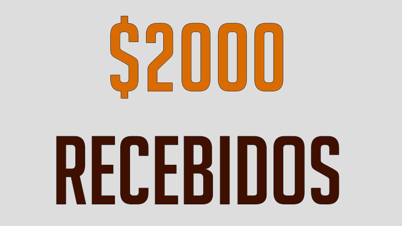 $2000 recebidos do Scarlet Clicks em vídeo