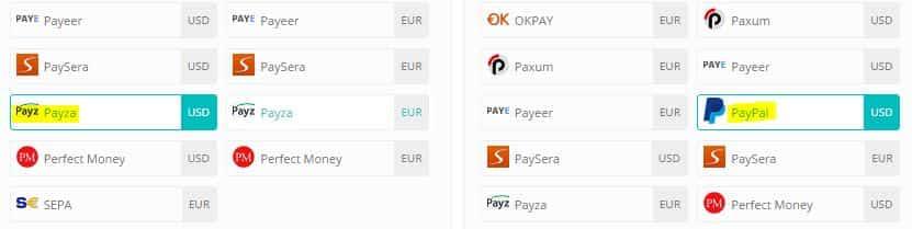 selecione o processador de pagamento
