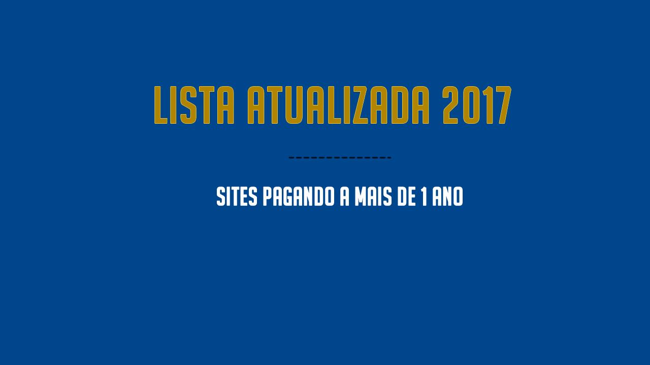 Novos Sites PTC recomendado 2017