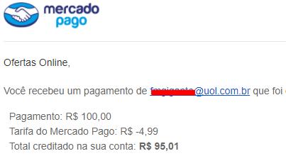 prova pagamento Mercado Pago