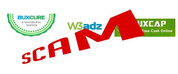 W3Adz BuxCap e BuxCure é Scam