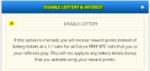 desativar loteria