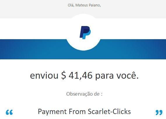 81º Pagamento Scarlet Clicks $41 25 Outubro 2017