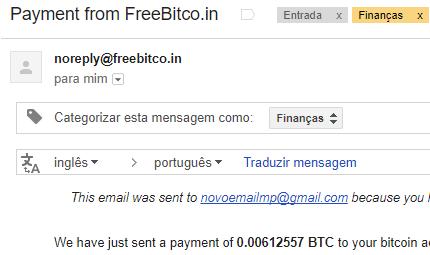 11º Pagamento FreeBitCoin 600000 Satoshi 03 Dezembro 2017