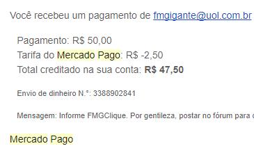 37º Pagamento FMGClique $50 Janeiro 2018
