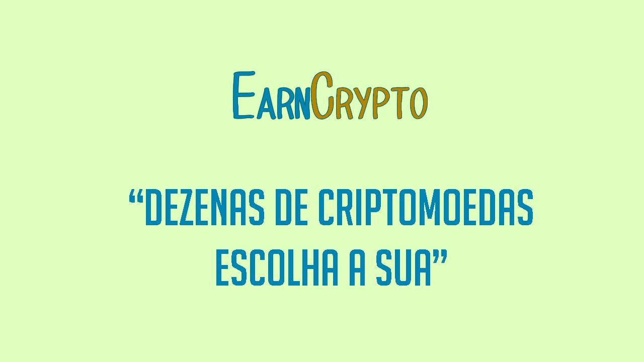 EarnCrypto tarefas por criptomoedas grátis