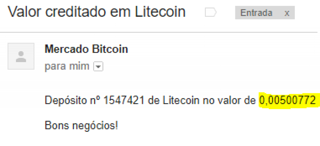 3º Pagamento Moon LiteCoin 0.005 LTC 28 Março 2018
