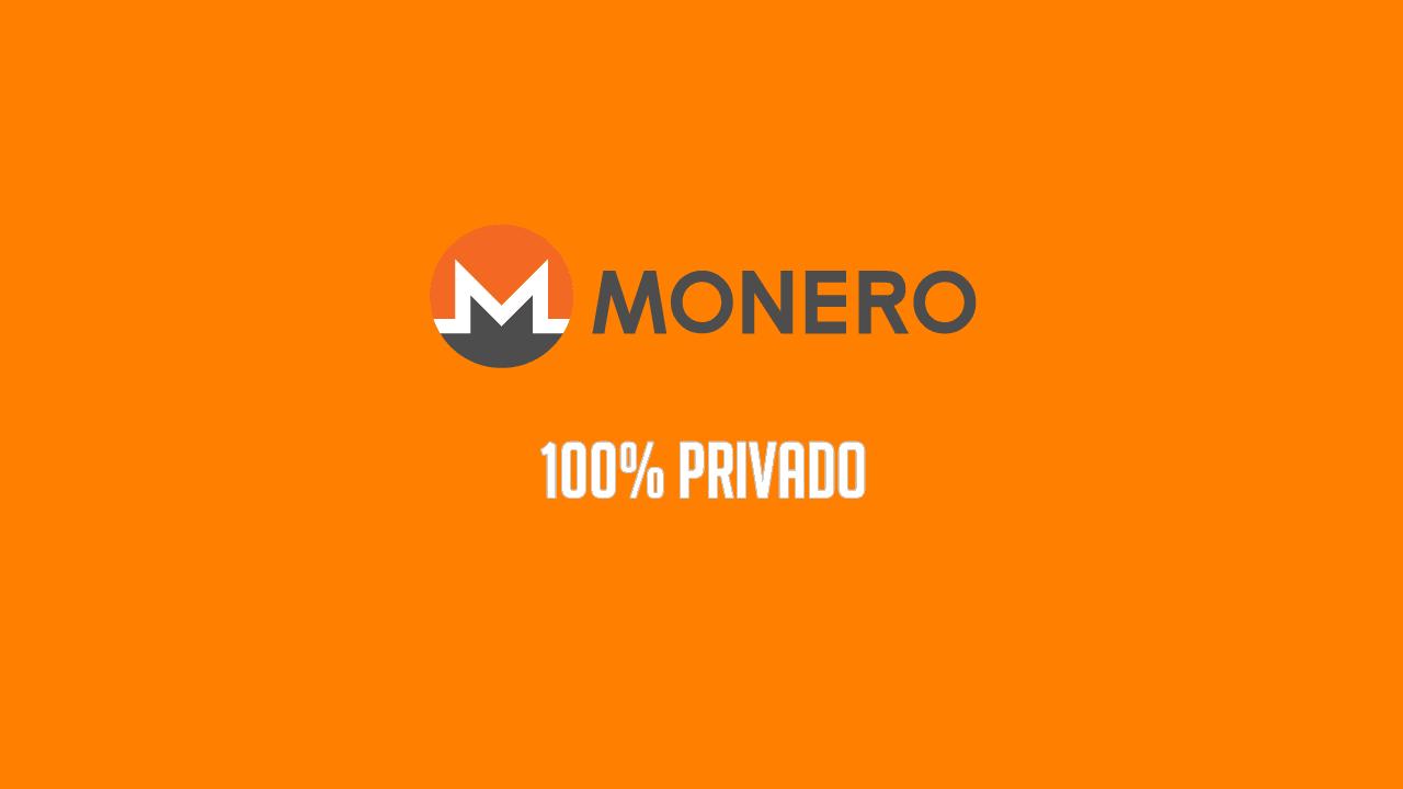 Criptomoeda Monero XMR 100% privado