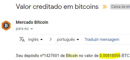 2º Pagamento BitKong 0.008 BTC junho 2018