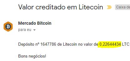 Pagamento CoinPot 0,22 LTC Junho 2018