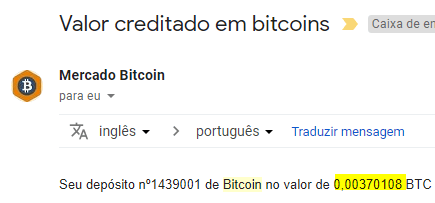 3º Pagamento BitKong 0.00370 Julho 2018