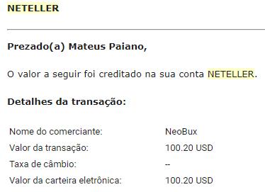 Pagamento Neobux $103 Neteller Agosto 2018