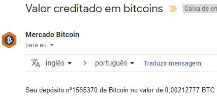 Pagamento Bitkong 0.002 BTC Outubro 2018