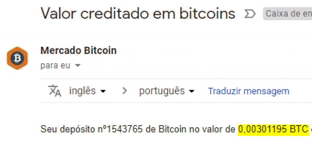 Pagamento CoinPot 0.003 BTC Outubro 2018