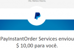 Pagamento Innocurrent $150 Paypal Outubro 2018