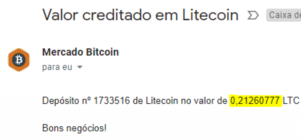 Pagamento Moon Litecoin 0.2 LTC Outubro 2018