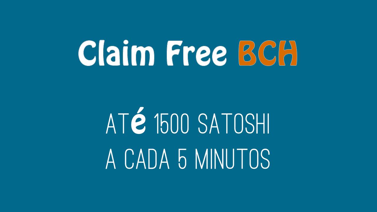 Claim Free BCH Faucet para Bitcoin Cash
