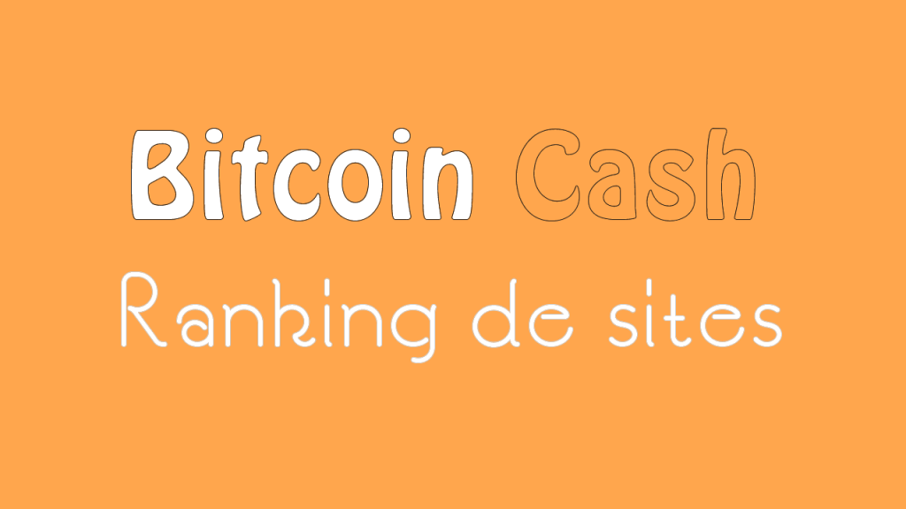 Ranking Faucets para ganhar Bitcoin Cash