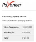 Pagamento ClixSense $127 Dezembro 2018