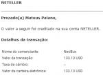 89º Pagamento Neobux $137 Janeiro 2019