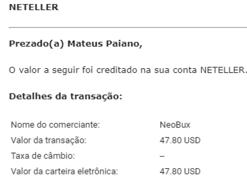 90º Pagamento Neobux $49 Fevereiro 2019