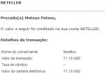 Pagamento CoinPot 0,007 BTC Julho 2019 1